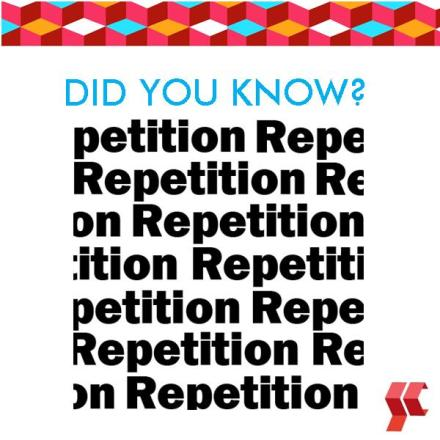 Did You Know - Repitition